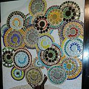 """Для дома и интерьера ручной работы. Ярмарка Мастеров - ручная работа Панно """"Дерево счастья"""", мозаика. Handmade."""