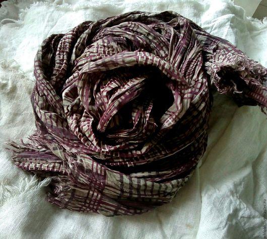 Шарфы и шарфики ручной работы. Ярмарка Мастеров - ручная работа. Купить Шарф из вискозного полотна с эффектом крэш. Handmade.