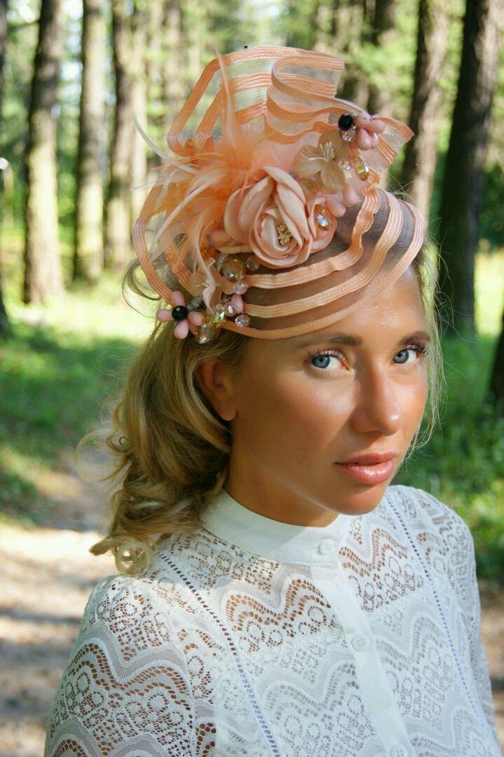 """Шляпка """"Peach"""", Шляпы, Санкт-Петербург, Фото №1"""