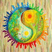 Картины и панно handmade. Livemaster - original item Embroidery .Awakening .. Handmade.