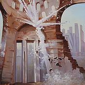 """Картины и панно ручной работы. Ярмарка Мастеров - ручная работа картина маслом """"Сквозь сон воспоминаний"""". Handmade."""