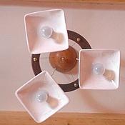 Для дома и интерьера ручной работы. Ярмарка Мастеров - ручная работа Керамическая люстра с тремя плафонами.. Handmade.
