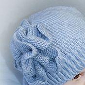 Работы для детей, handmade. Livemaster - original item Spring kit. Hat with flower and Snood, knitted baby. Handmade.