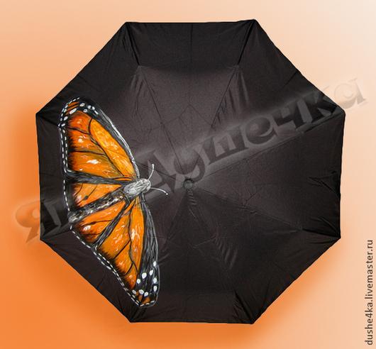 """Зонты ручной работы. Ярмарка Мастеров - ручная работа. Купить Зонт с  ручной росписью """"Бабочка"""". Handmade. Бабочка, зонт с рисунком"""