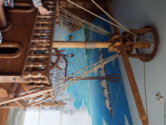 Детская ручной работы. Ярмарка Мастеров - ручная работа. Купить Морская тема-2(продолжение). Handmade. Коричневый, веревки льяняные