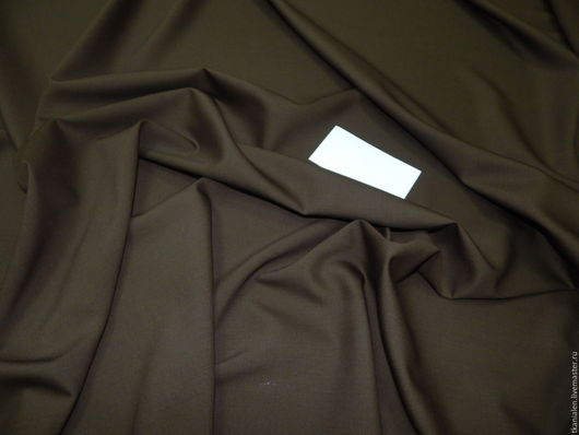 Шитье ручной работы. Ярмарка Мастеров - ручная работа. Купить Итальянская костюмная шерсть Хаки. Handmade. Хаки, ткань, платье