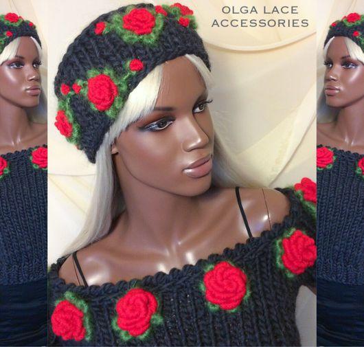 Повязки ручной работы. Ярмарка Мастеров - ручная работа. Купить Повязка на голову с розами рококо от Olga Lace. Handmade.