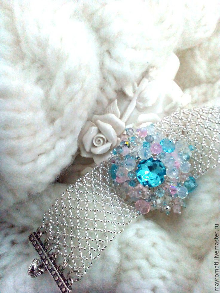 Bracelet and ring beaded and crystals ' January ', Jewelry Sets, Athens,  Фото №1