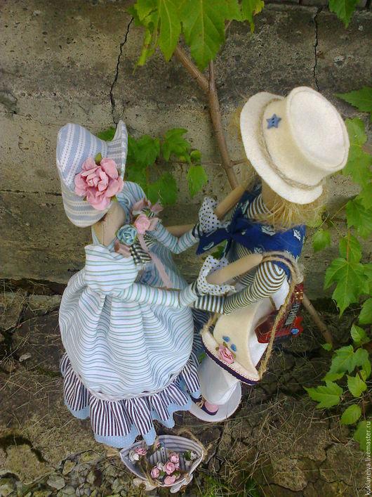 Куклы Тильды ручной работы. Ярмарка Мастеров - ручная работа. Купить Кукла-тильда ручной работы Встреча влюбленных.. Handmade.