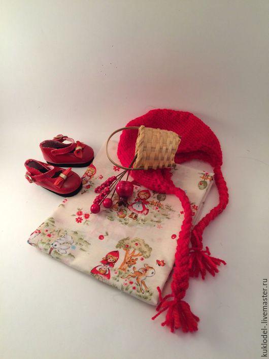 Куклы и игрушки ручной работы. Ярмарка Мастеров - ручная работа. Купить Японский хлопок Красная шапочка. Handmade. Ткань