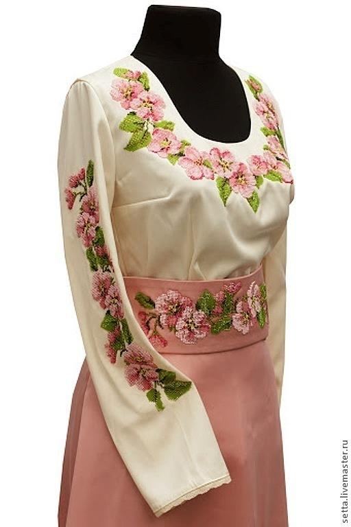 """Шитье ручной работы. Ярмарка Мастеров - ручная работа. Купить Заготовка для Блузы женской """"Яблоня в цвету"""", вышиванка. Handmade."""