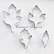 Материалы для творчества handmade. Livemaster - original item Cutter leaf chrysanthemum , 4 PCs. Handmade.