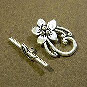 Материалы для творчества handmade. Livemaster - original item Flower lock for jewelry, antique silver. for PCs. Handmade.