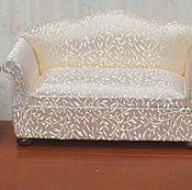 Материалы для творчества ручной работы. Ярмарка Мастеров - ручная работа Наборы мягкой мебели для кукол диван и два кресла Миниатюра 1:12. Handmade.