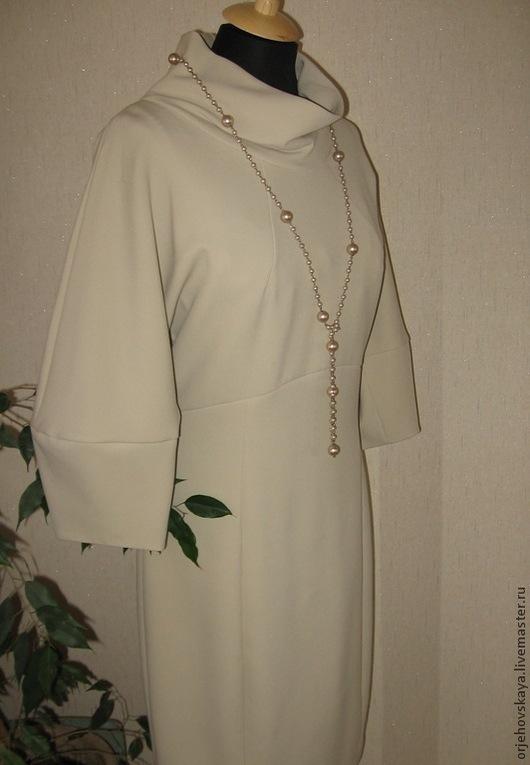 Платья ручной работы. Ярмарка Мастеров - ручная работа. Купить Платье из джерси молочного цвета. Handmade. Белый, элегантное платье