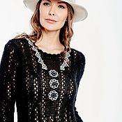 Одежда handmade. Livemaster - original item Copyright black dress mohair braids. Handmade.