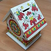 Копилки ручной работы. Ярмарка Мастеров - ручная работа копилка-домик. Handmade.