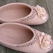 """Обувь ручной работы. Ярмарка Мастеров - ручная работа Тапочки валяные """"Для принцессы"""". Handmade."""