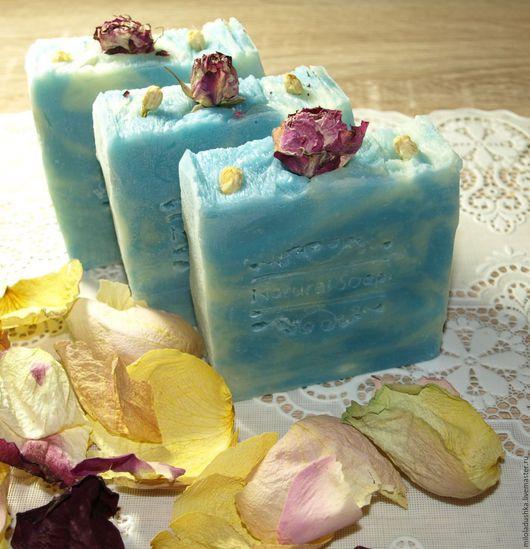 """Мыло ручной работы. Ярмарка Мастеров - ручная работа. Купить Мыло """"Роза"""". Handmade. Голубой, роза, натуральное мыло"""