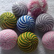 Куклы и игрушки ручной работы. Ярмарка Мастеров - ручная работа вязанные мячики. Handmade.