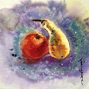 Картины и панно ручной работы. Ярмарка Мастеров - ручная работа Акварель О Любви. Handmade.