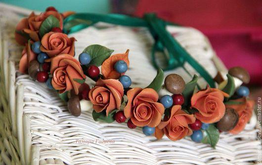 Диадемы, обручи ручной работы. Ярмарка Мастеров - ручная работа. Купить Осенний ободочек. Handmade. Рыжий, ободок для волос