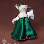 Куклы и игрушки ручной работы. Ярмарка Мастеров - ручная работа Мышка в сарафане.. Handmade.