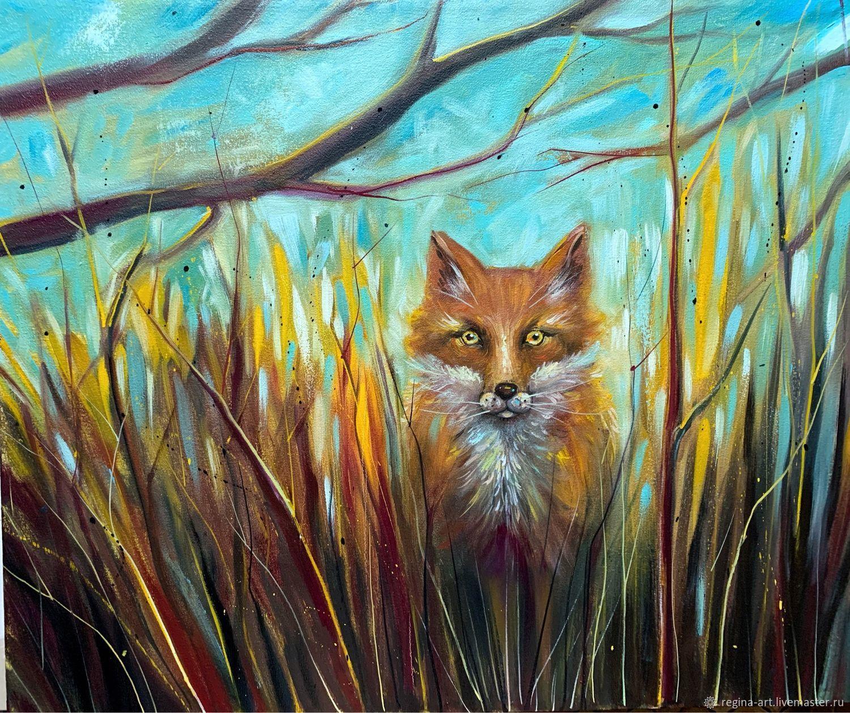 Pintura al óleo 'Reunión con el zorro», Pictures, Kemerovo,  Фото №1