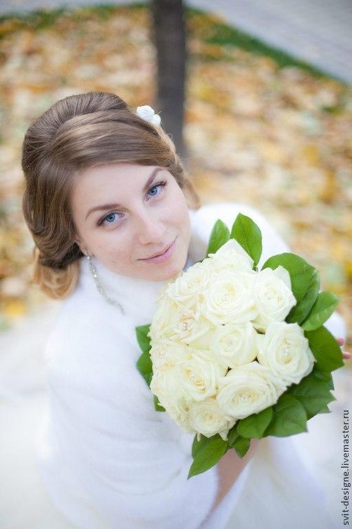 Свадебные цветы ручной работы. Ярмарка Мастеров - ручная работа. Купить нежность. Handmade. Белый, букет на свадьбу, свадебные аксессуары