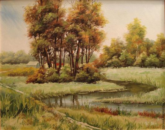 Пейзаж ручной работы. Ярмарка Мастеров - ручная работа. Купить Река Коелга. Handmade. Разноцветный, картина, картина в подарок