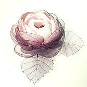 Украшения handmade. Livemaster - original item BlackBerry Ice. Brooch - handmade flower made of fabric. Handmade.