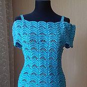 Одежда ручной работы. Ярмарка Мастеров - ручная работа Бирюзовое платье. Handmade.