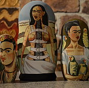 Русский стиль handmade. Livemaster - original item dolls of Frida Kahlo. Handmade.