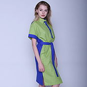 Одежда handmade. Livemaster - original item Dress shirt made of linen with cotton. Handmade.