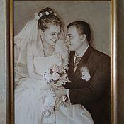 Картины и панно handmade. Livemaster - original item Wedding portrait.. Handmade.