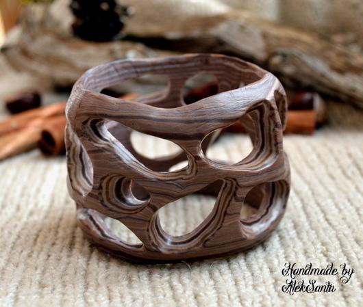 """Браслеты ручной работы. Ярмарка Мастеров - ручная работа. Купить Браслет """"Какао"""" (коричневый, бежевый). Handmade. Бежевый, браслет на руку"""