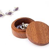 Сувениры и подарки handmade. Livemaster - original item Round wooden box. Handmade.