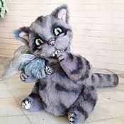 Куклы и игрушки ручной работы. Ярмарка Мастеров - ручная работа Чеширский кот  (зубки светятся в темноте). Handmade.