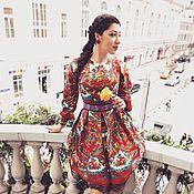 """Платья ручной работы. Ярмарка Мастеров - ручная работа """"Magic of Boho"""" Платье из платков в стиле А-ля Русс. Handmade."""