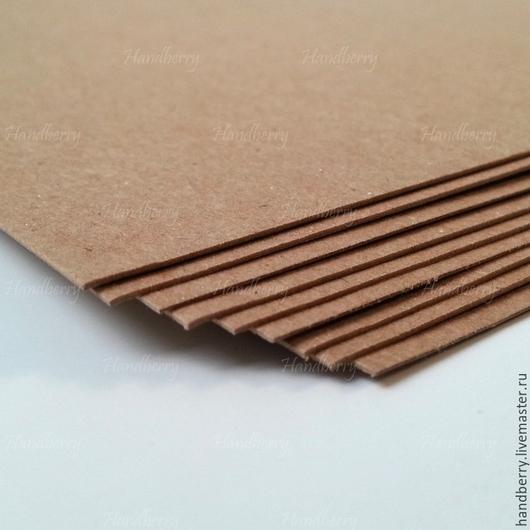 Упаковка ручной работы. Ярмарка Мастеров - ручная работа. Купить Крафт картон 350 г/м2. Handmade. Коричневый, крафт, упаковка