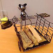 Для дома и интерьера ручной работы. Ярмарка Мастеров - ручная работа Дровница каминный набор. Handmade.