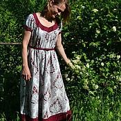 Одежда ручной работы. Ярмарка Мастеров - ручная работа Платье с рисунком. Handmade.