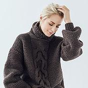Одежда ручной работы. Ярмарка Мастеров - ручная работа Объемный свитер с косой. Handmade.