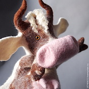 Куклы и игрушки handmade. Livemaster - original item cow. A glove puppet.Bi-BA-Bo.. Handmade.
