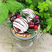 """Банки ручной работы. Ярмарка Мастеров - ручная работа Банка с декором """"мороженое с ягодами"""". Handmade."""
