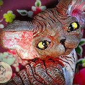 Подарки к праздникам handmade. Livemaster - original item Brownie. Chocolate cat Devon Rex.. Handmade.