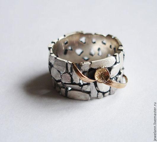 """Кольца ручной работы. Ярмарка Мастеров - ручная работа. Купить Кольцо """"Цветущая мостовая"""". Handmade. Серебрянное кольцо, мостовая"""
