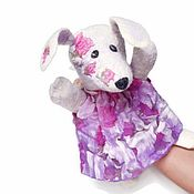 Puppet show handmade. Livemaster - original item The rabbit, a glove puppet, a toy in hand puppet theater. Handmade.