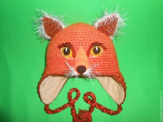 """Шапки ручной работы. Ярмарка Мастеров - ручная работа. Купить Шапка зимняя """"Лисичка"""". Handmade. Рыжий, лисичка, яркая шапка"""