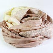 Аксессуары handmade. Livemaster - original item scarf felted Cocoa. Handmade.